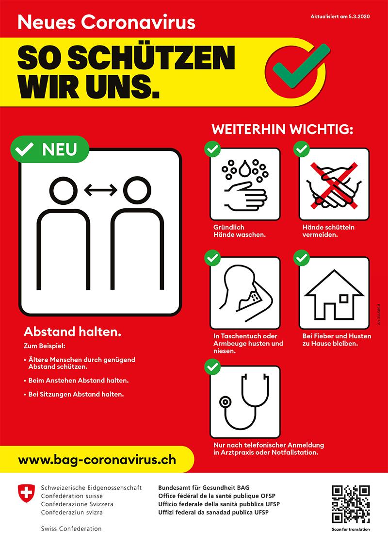 Coronavirus so schützen wir uns