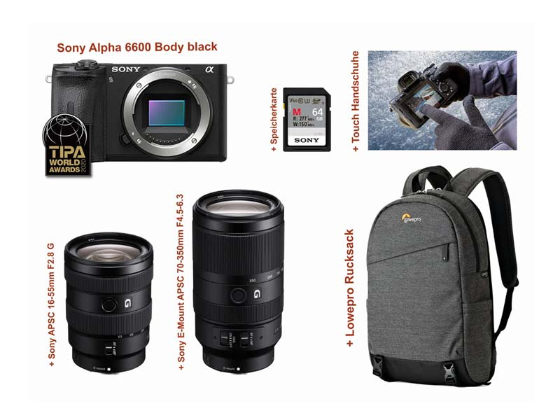 Sony Alpha 6600 16-55mm 70-350mm Kit